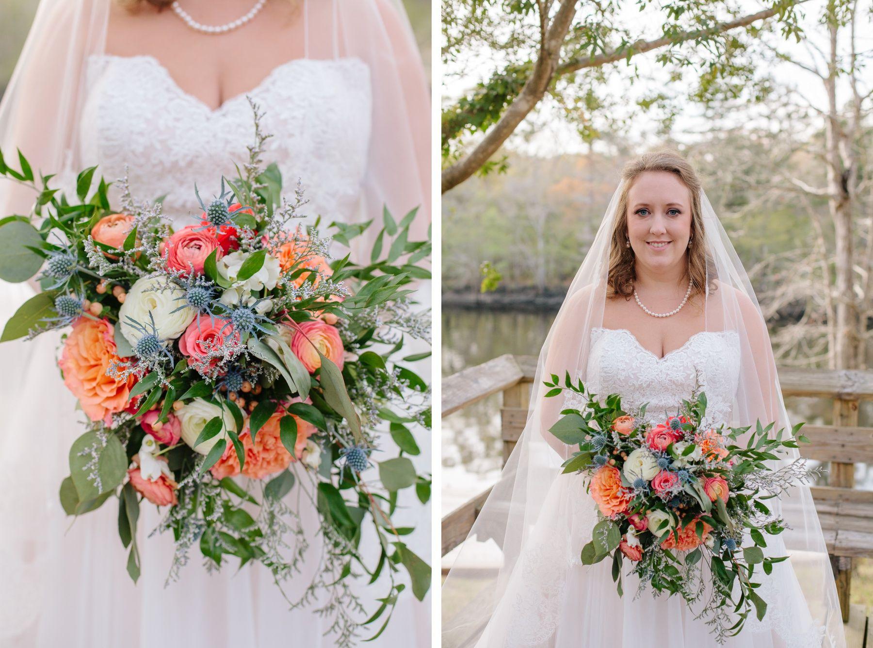 Beautiful Bridal Portraits With Stunning Bouquet Givhans Ferry State Park Wedding Charleston Photographer