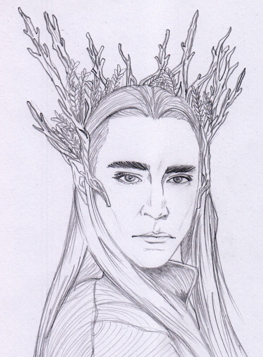 thranduil sketch by aenea jones d7db5s5 jpg 1024 1390