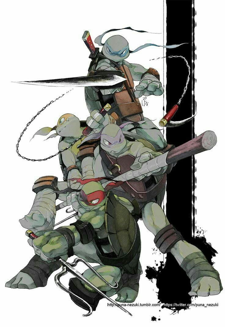 Pin de dactrtr en Characters | Pinterest | Tortugas ninjas, Ninjas y ...
