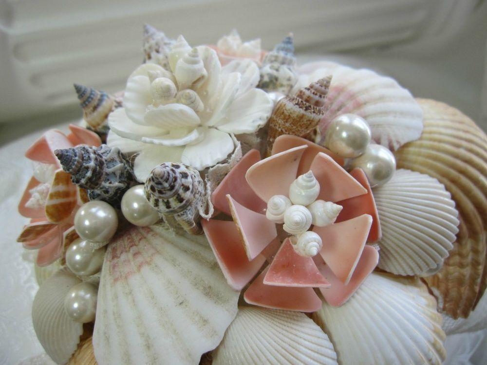Seashell Sand Shell Beach Summer Bridal Bridal Wedding Boquet Bouquet #CreativeTouchBouquets