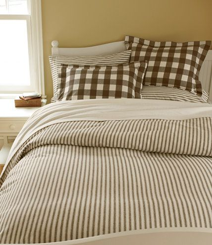 Ultrasoft Flannel Comforter Cover Ticking Stripe Comforter