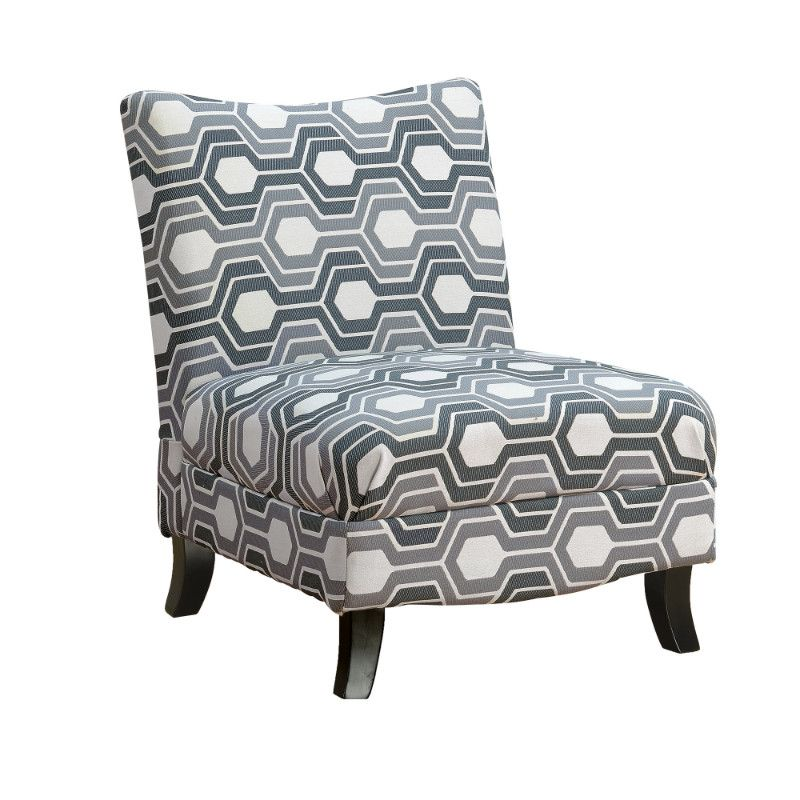 Best Accent Chair Grey Geometric Fabric Accent Chairs High 400 x 300