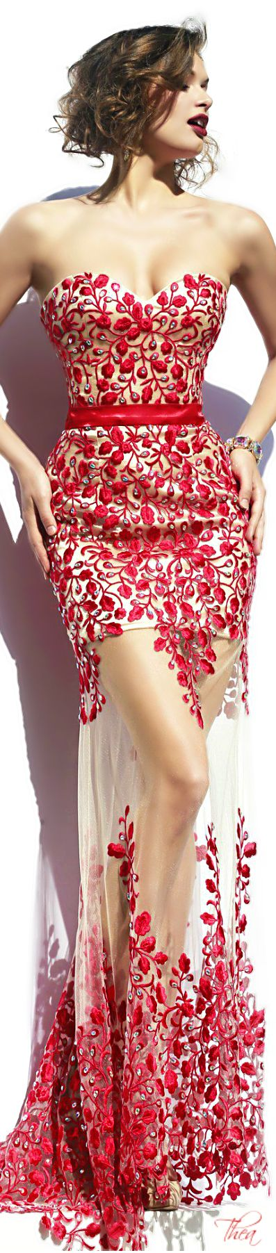 Sherri Hill ○ 2014 | Abbigliamento | Pinterest | Encaje rojo ...