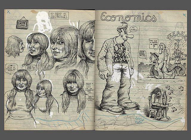 robert crumb sketchbook c 1970 by sokref1 via flickr