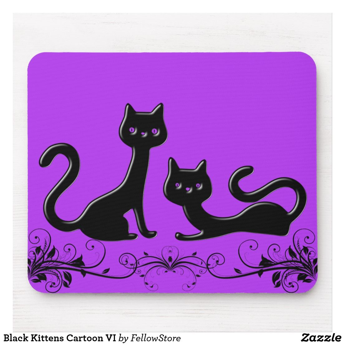 Customized Personality Desings Black Cat Face cute funny