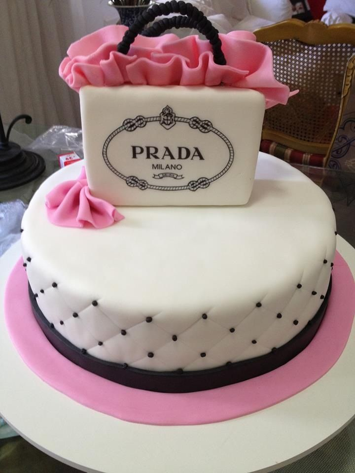 f6446ed6cb16 Prada Cake | Brilliant cake ideas | Cake, Birthday Cake, Desserts