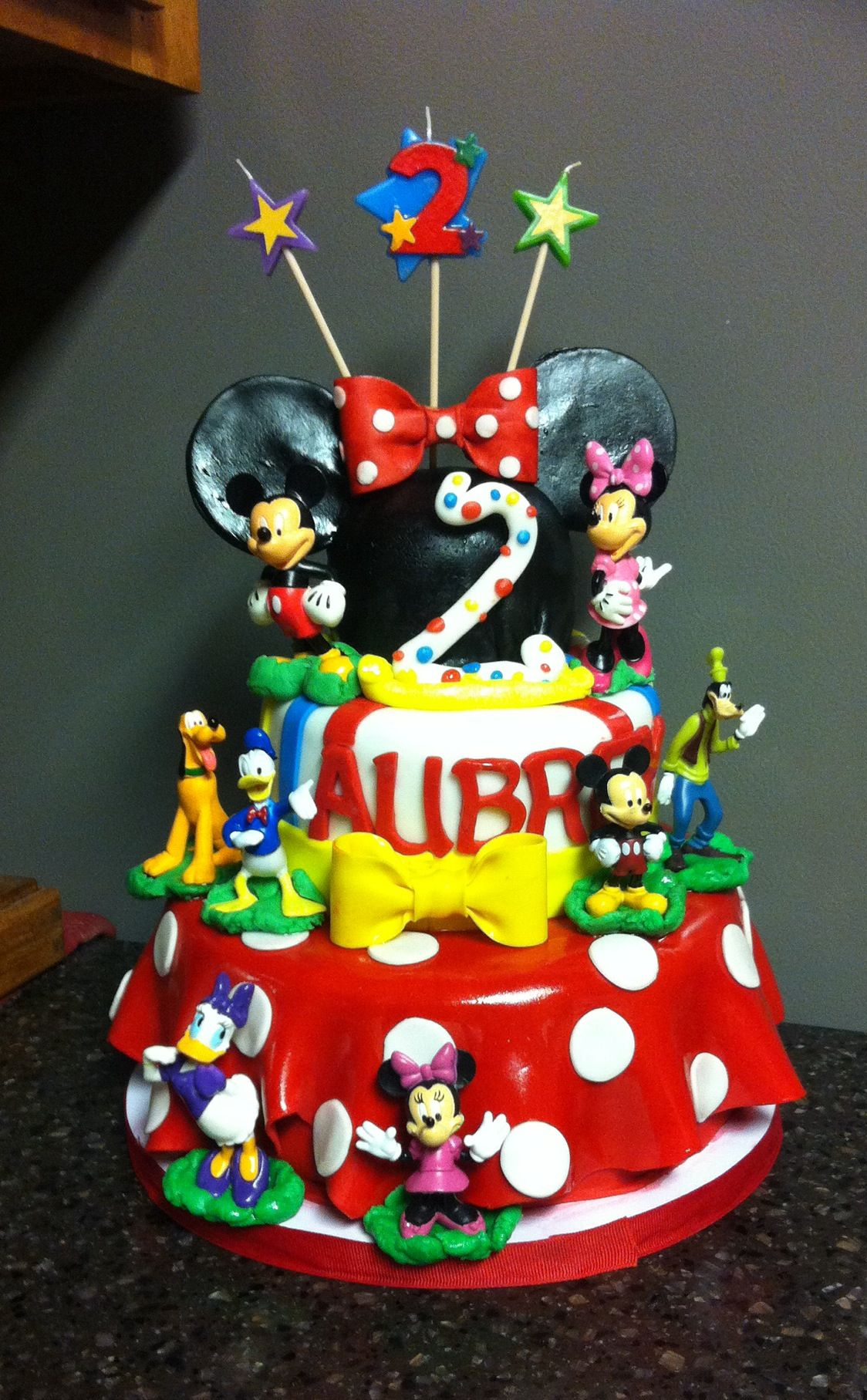 Mickey Mouse Clubhouse Birthday Cake For A 2 Yr Old Little Girl