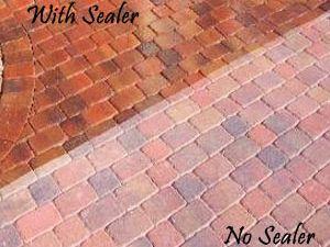 sealer brick walkway diy stained