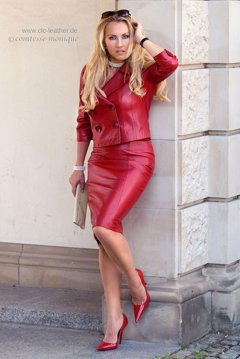 Eleganz Pur - Pencil Skirt mit Schlitz hinten - CLC-Leather