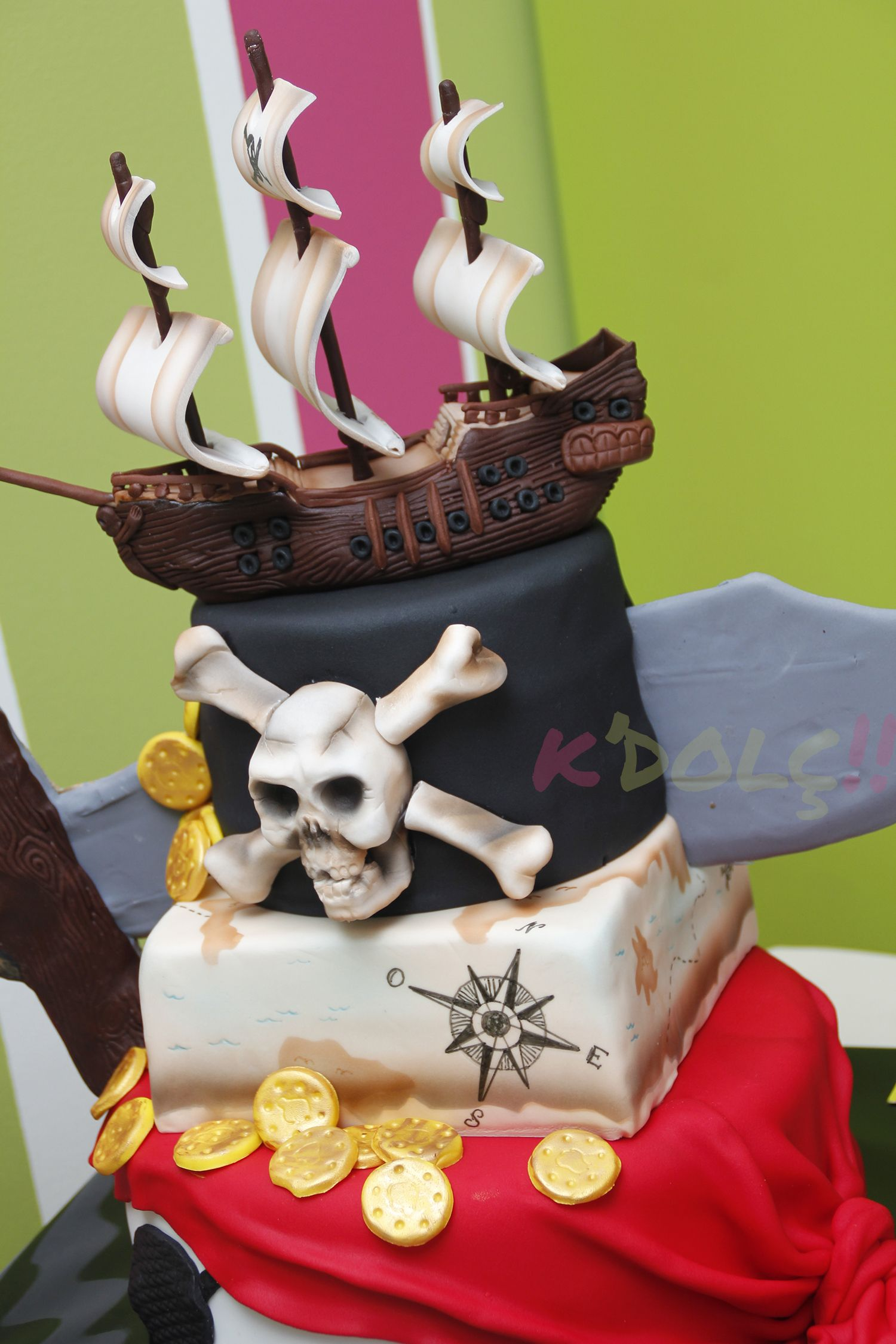 Cake ideas on pinterest pirate cakes marshmallow fondant and - Zoom Tarta Barco Pirata Fondant Pirate Cakespirate Treasurecupcake