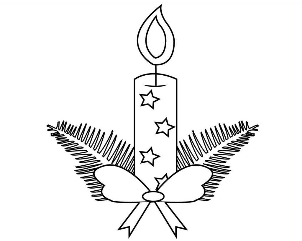 48++ Christmas candle coloring pages info