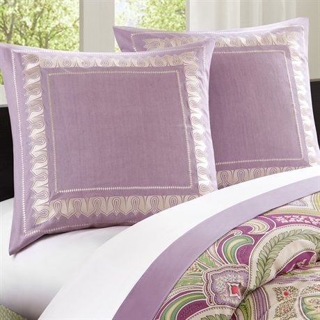 The Echo Vineyard Paisley Bedding Collection Features An