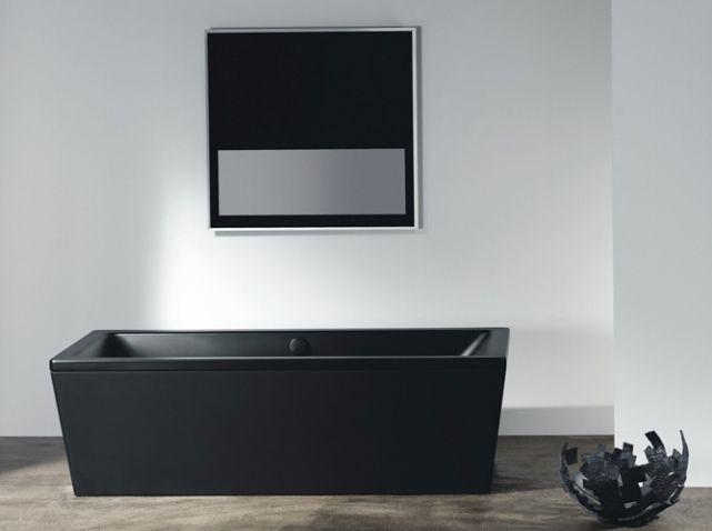 Les 25 meilleures id es de la cat gorie baignoire noire sur pinterest salle - Baignoire ilot 2 places ...