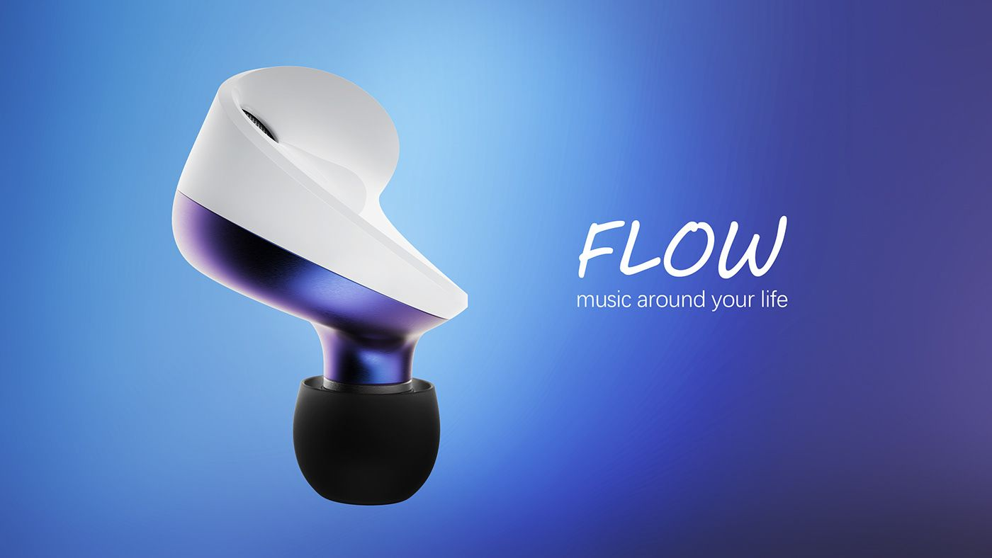 Flow wireless earbuds on behance earbuds wireless
