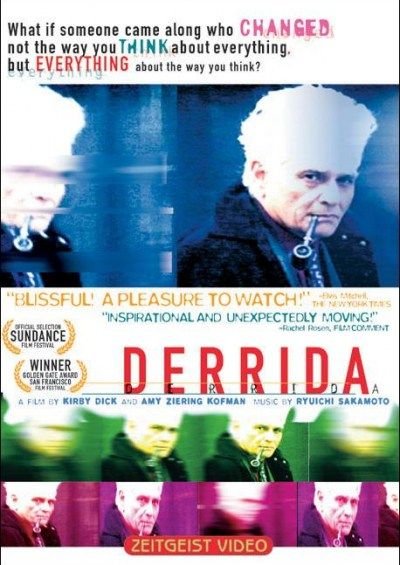 Derrida Documental sobre el filósofo francés (y autor de la deconstrucción), Jacques Derrida, que provocó un intenso debate en todo el ambiente académico estadounidense.