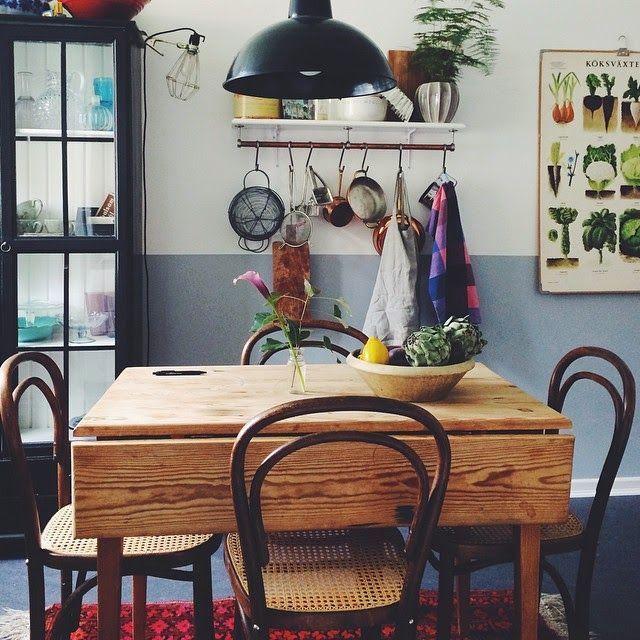 Frida Schuler Home Via Instagram Interior Dining Room Vintage Country Kitchen