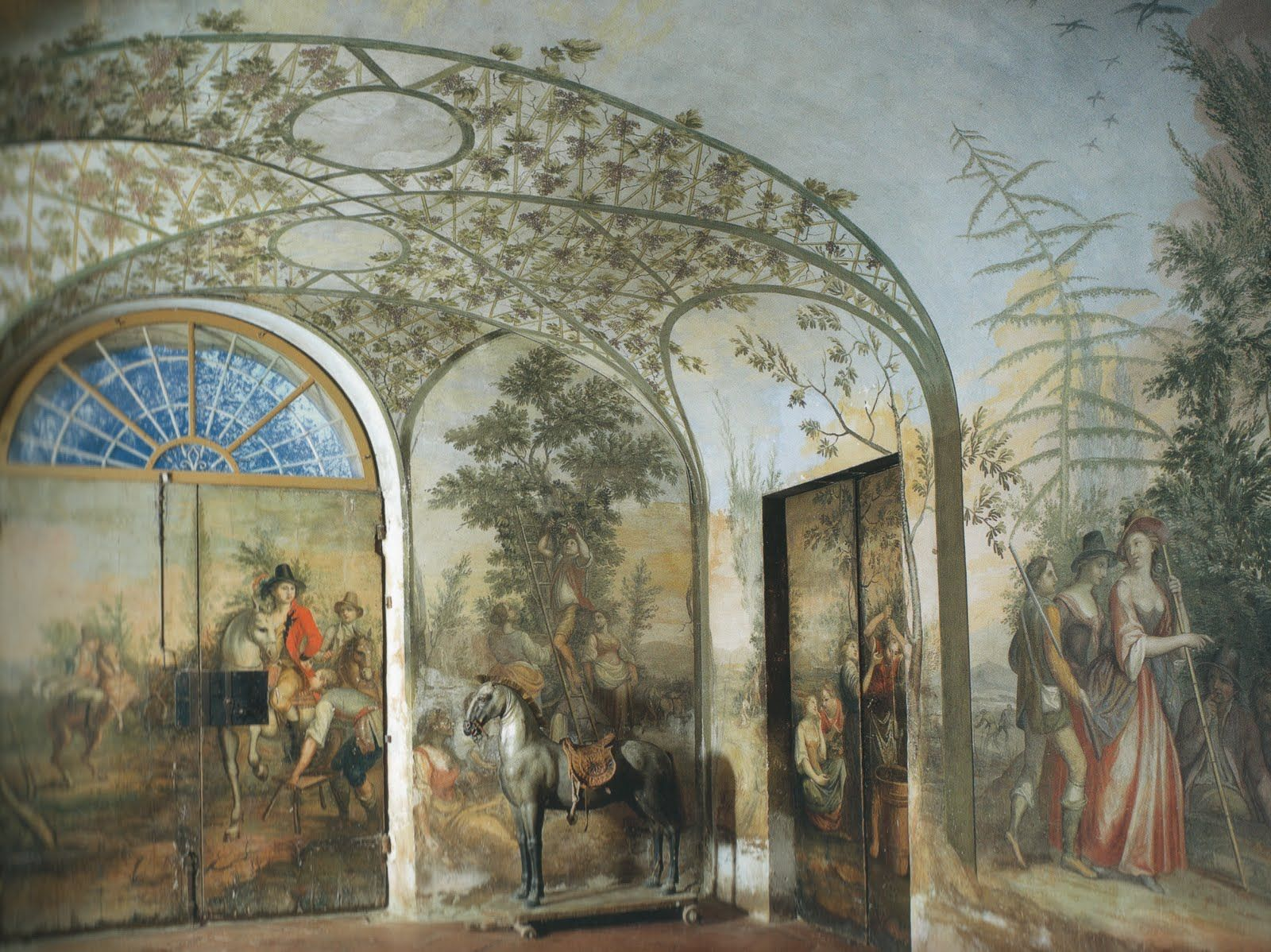 Decorative Painted Wall Muruls With Ceiling...want An Ethereal Mural Tree  In Foyer Part 98