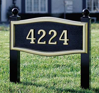 Decorative Address Yard Signs Address Lawn Markers House Numbers