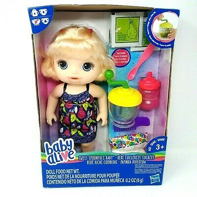 Baby Alive Sweet Spoonfuls Htf Blonde Baby Girl Doll By Hasbro 2017 Nib Baby Alive Food Baby Doll Diaper Bag Baby Alive