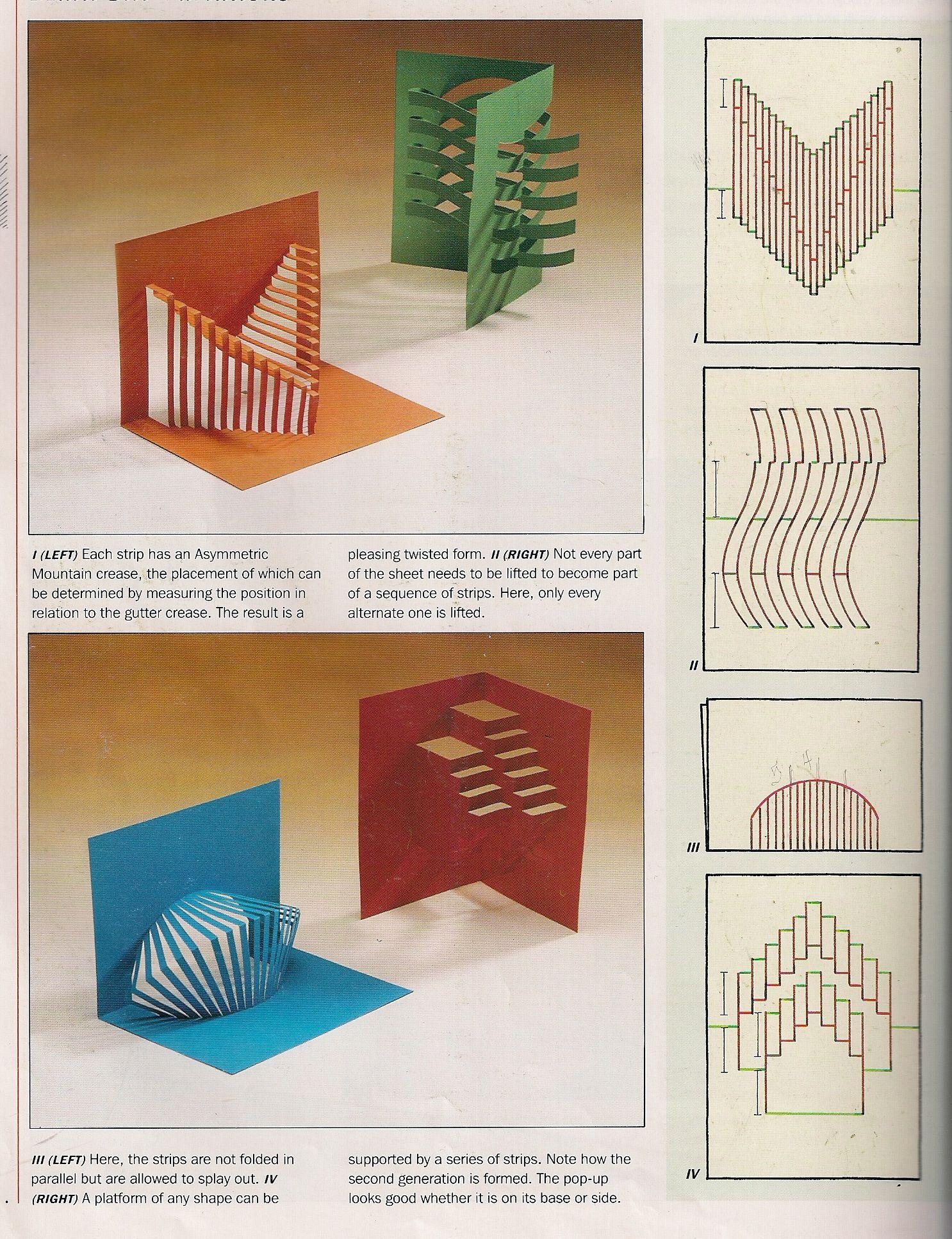 Изготовление объемной открытки из бумаги
