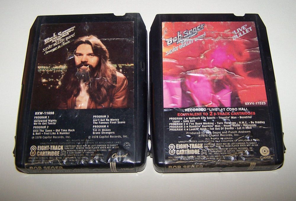 Bob Seger Silver Bullet Band 8 Track Tapes Live Bullet Stranger In Town 2 Pure Leaf Tea Bottle Tea Bottle Bob Seger