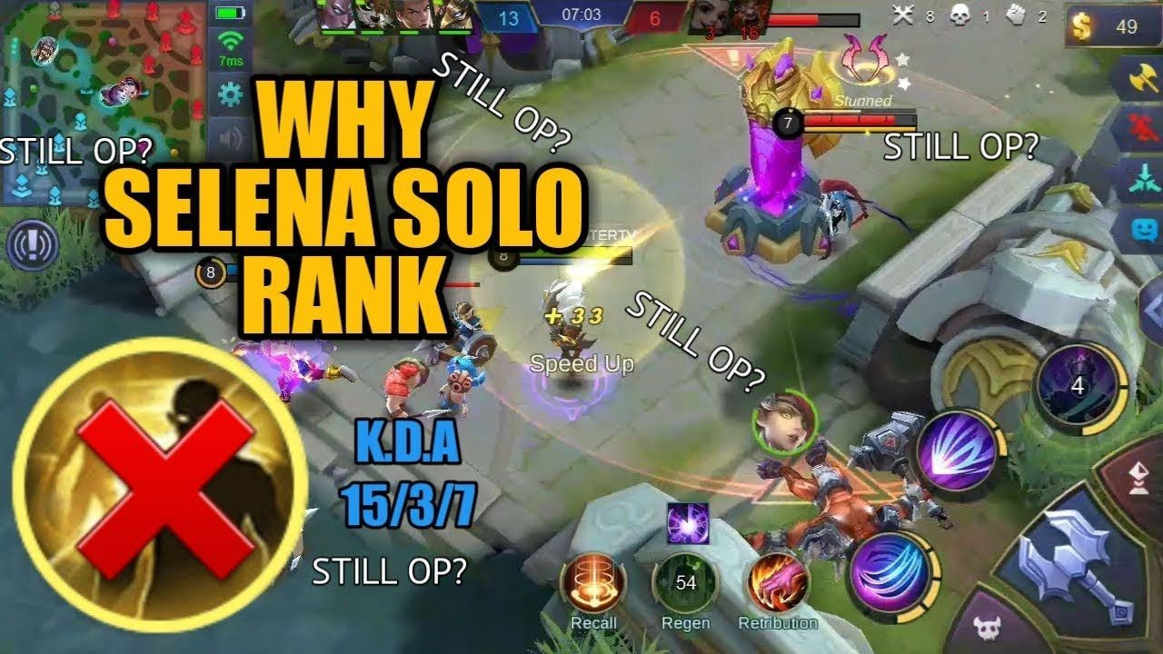 WHY SELENA IN SOLO RANK MOBILE LEGENDS