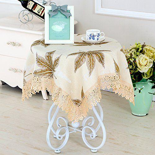 Table Cloth Round Cloth Cloth Cotton Cloth Desk Square Rectangular Modern Minimalist Living Room Maple Leaf Card 100 150cm Home Sweet Home Modern Minimalis