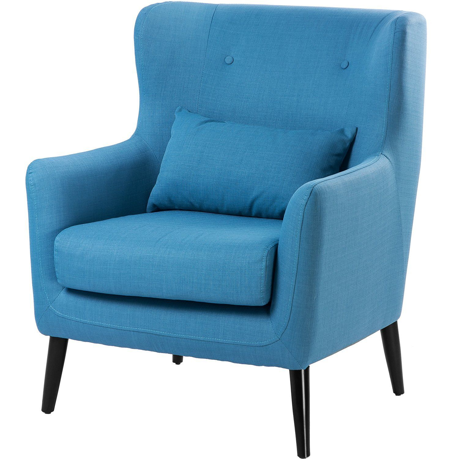 Amazon.com: Merax Wing Chair Living Room Chairs Cushioned Accent Arm ...