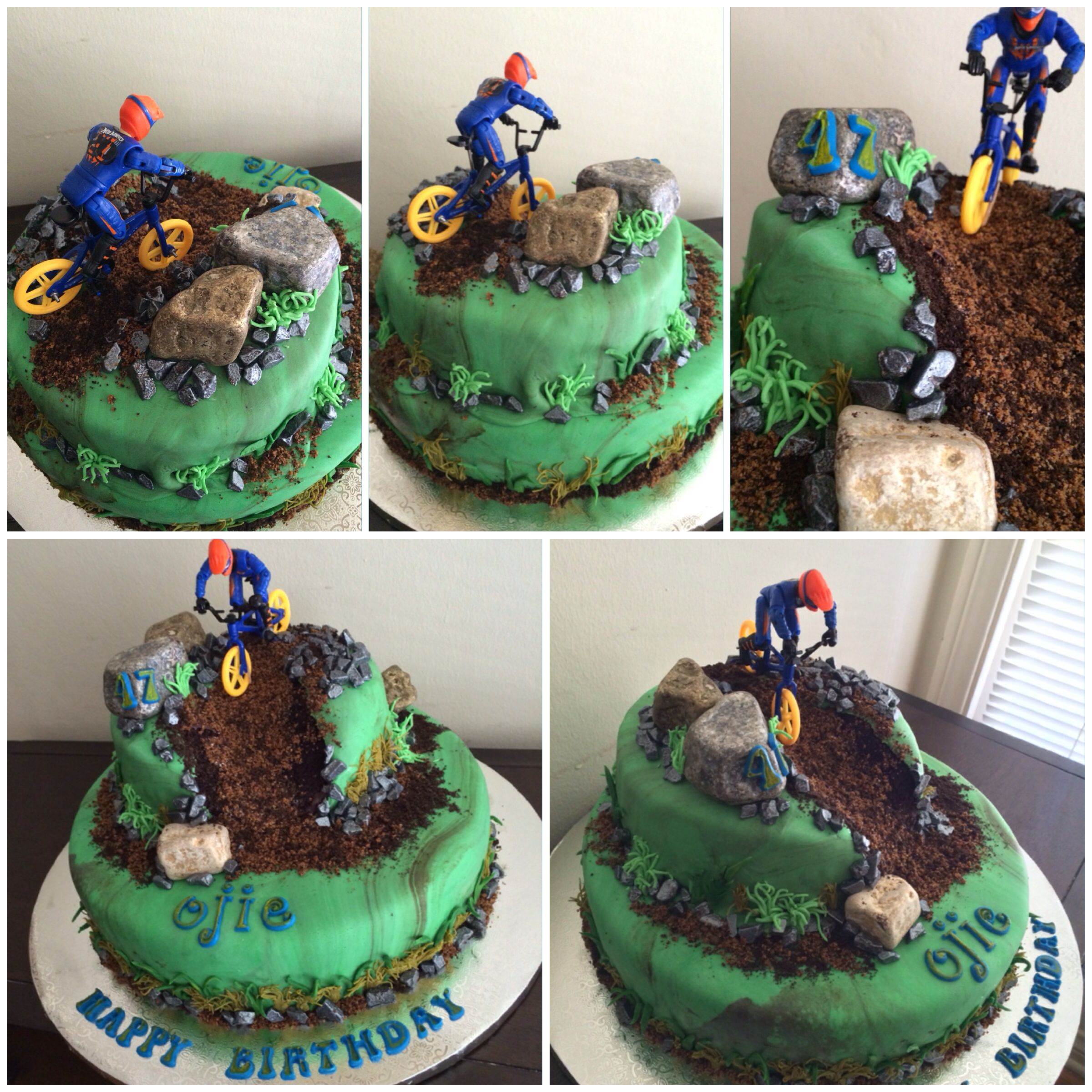 Mountain Biking Birthday Cake With Images Bike Cakes Birthday