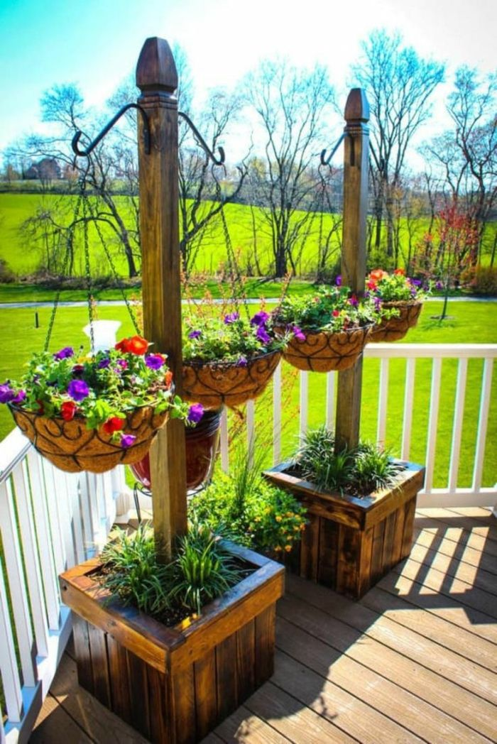 1001 ideas de decoraci n de jard n con maceteros grandes - Maceteros para terrazas ...