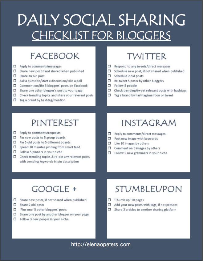 Ultimate Social Media Sharing Checklist To Boost Blog