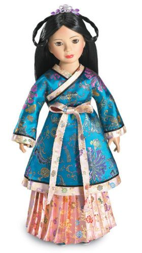 "Doll Clothes SLIM 18/"" Carpatina Original Skirt Yuan Dynasty Gold Fits 18/"" Dolls"