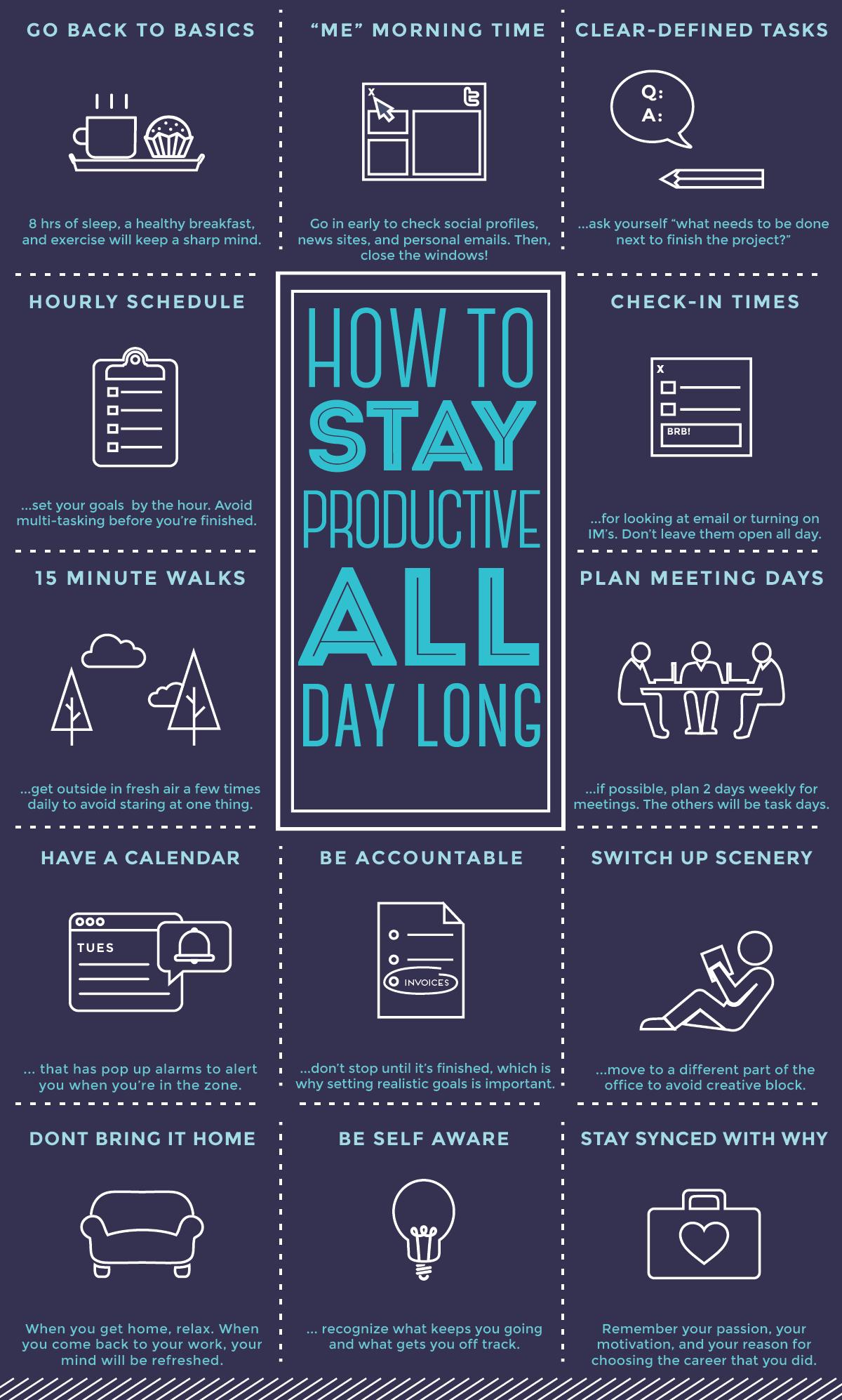 How To Stay Productive All Day Belajar Rencana Kehidupan Motivasi