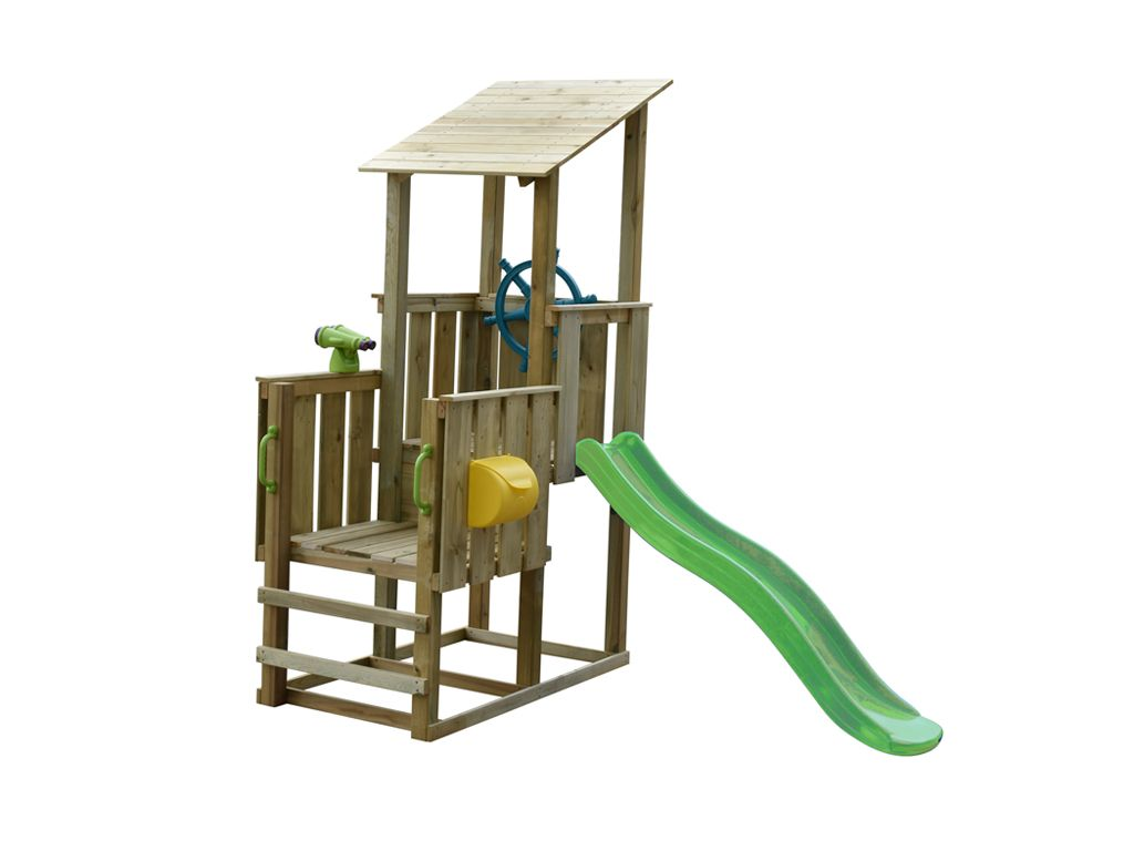 Spielturm Sparset Playcenter Pirate Kdi Inkl Rutsche Grun Zubehor Spielturm Spielturm Selber Bauen Turm