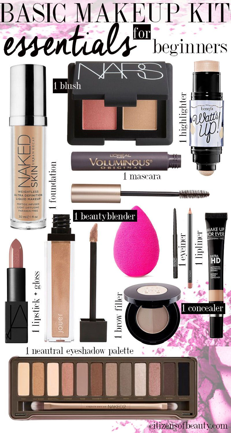 Basic Makeup Essentials For Teens: Makeup Kit List Name