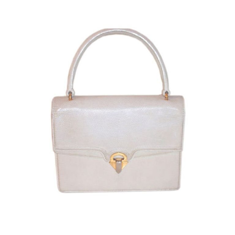 95c76f9577d Gucci Vintage Lizard Skin Square Circa 1960 Handbag   Purse