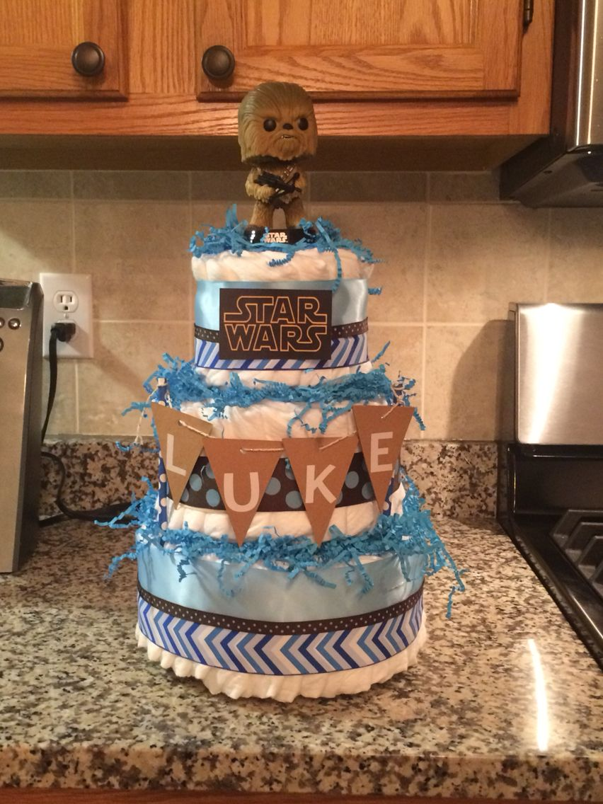 Star Wars Diaper Cake New Baby Things Pinterest