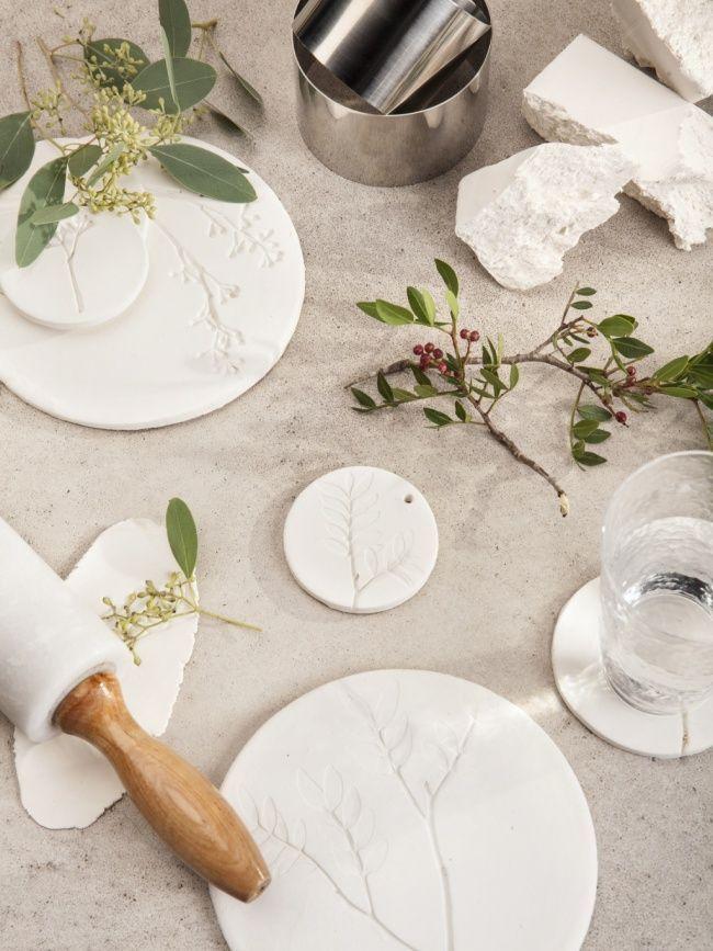 DIY: Blumenfossil aus Keramik