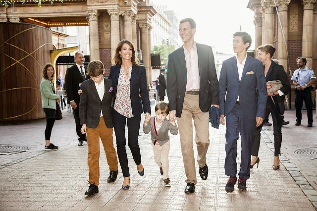"17 June 2014  Members of the Danish Royal Family attended the premiere of the ballet ""The Steadfast Tin Soldier"" in Copenhagen"