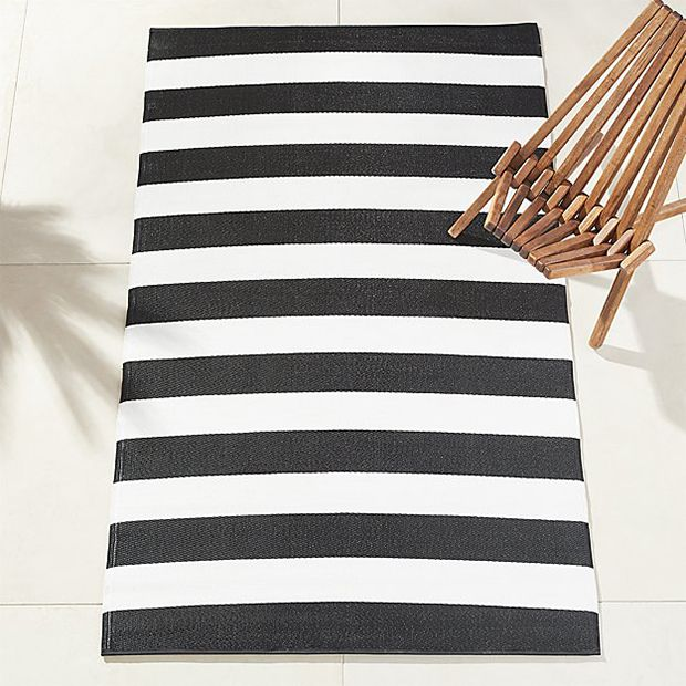 Like A Little Black Dress, This Black And White Striped Rug From CB2