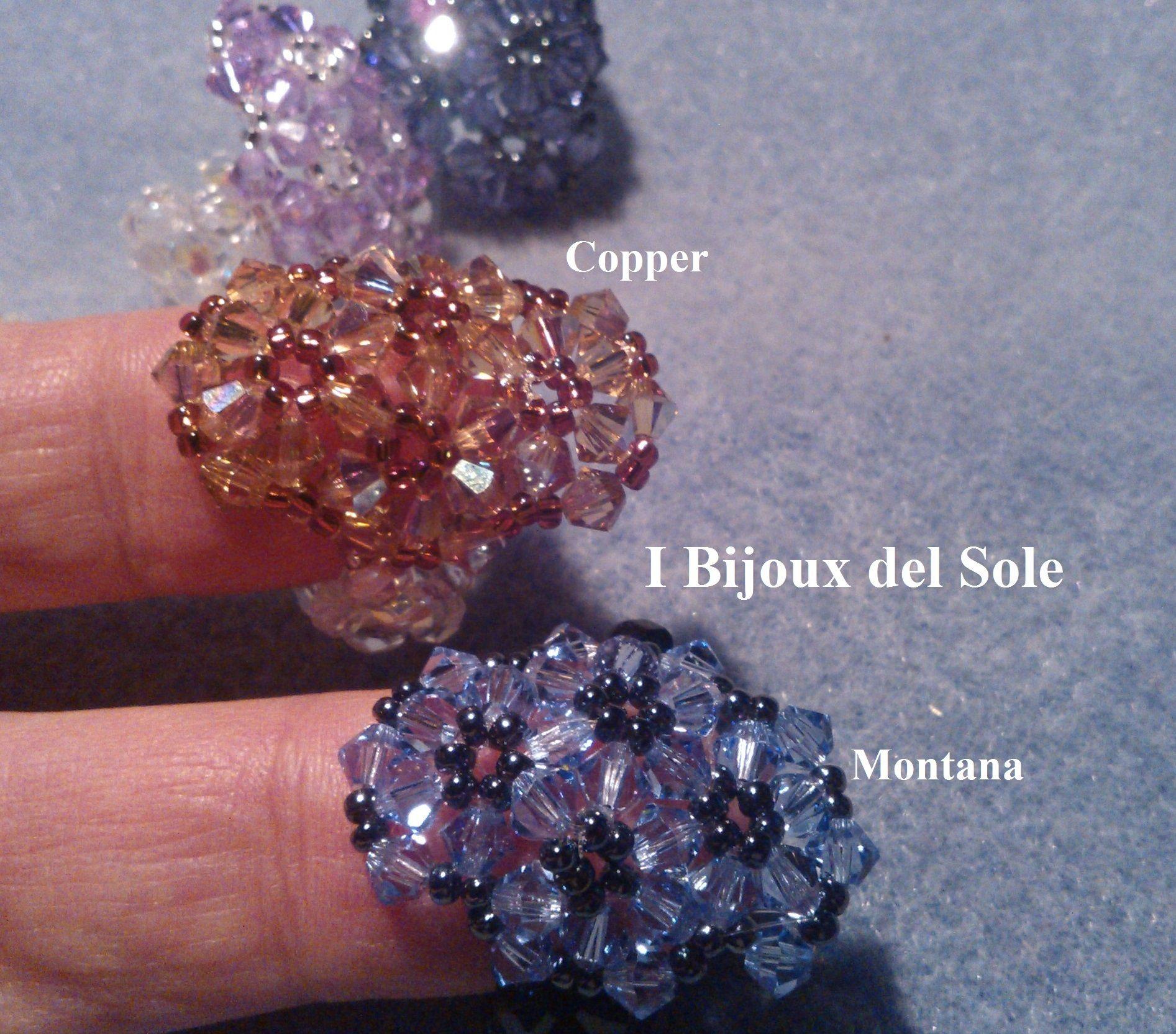 Anello fascia di fiori copper e montana JewelryDecorate Me