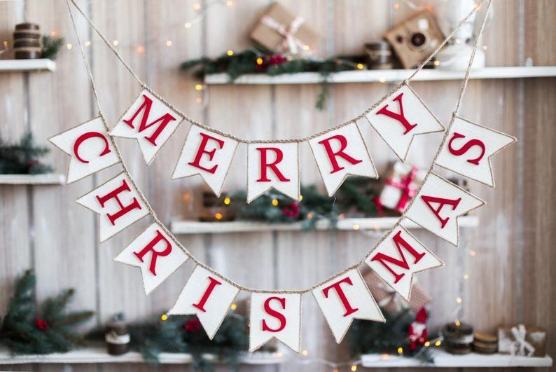 Christmas Decor Merry Christmas Bunting