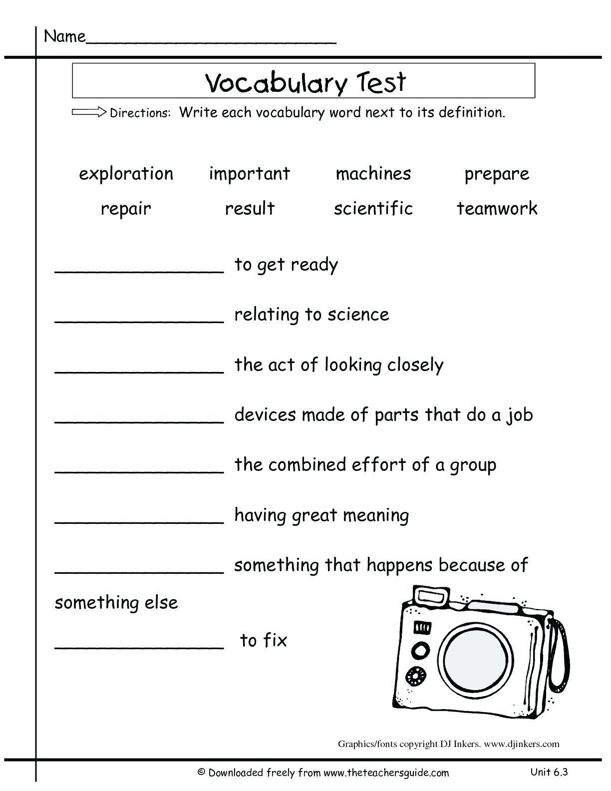 5th Grade Vocabulary Worksheet Multiple Meaning Words