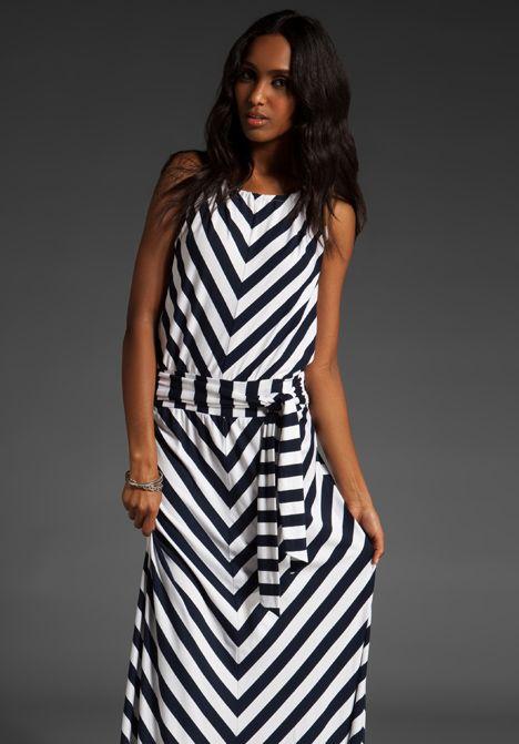 4a627f210e465 MICHAEL STARS Stripe Halter Maxi Dress in Navy & White at Revolve ...