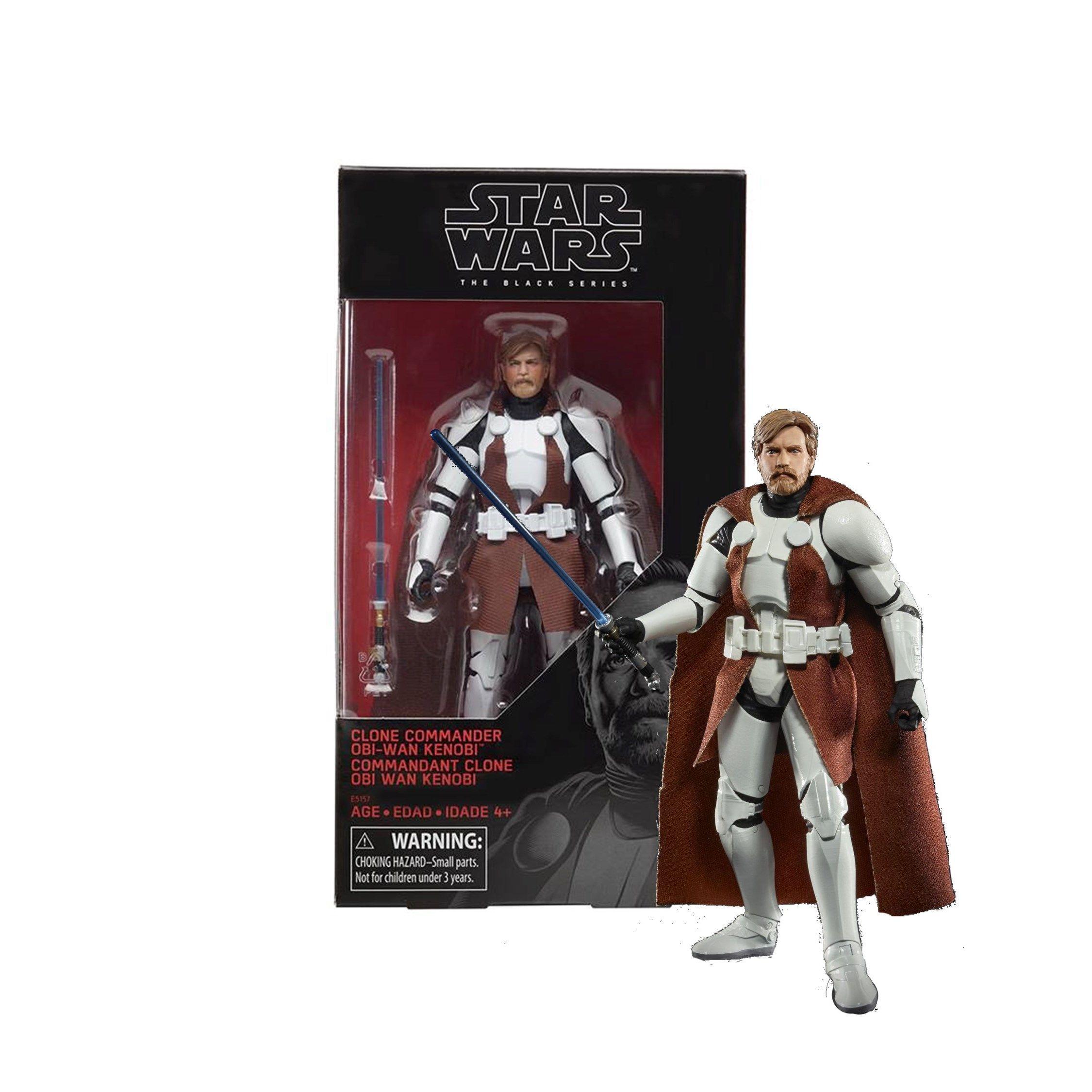 "Star Wars 6/"" Clone Commandant Obi Wan Kenobi La Série Black WALGREENS Exclusive"