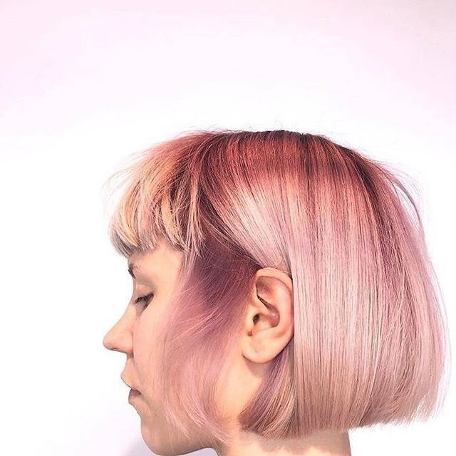 Your Monday hair inspiration courtesy of @hairbyelisajohanna via @hairbrained_official. #millenialpink