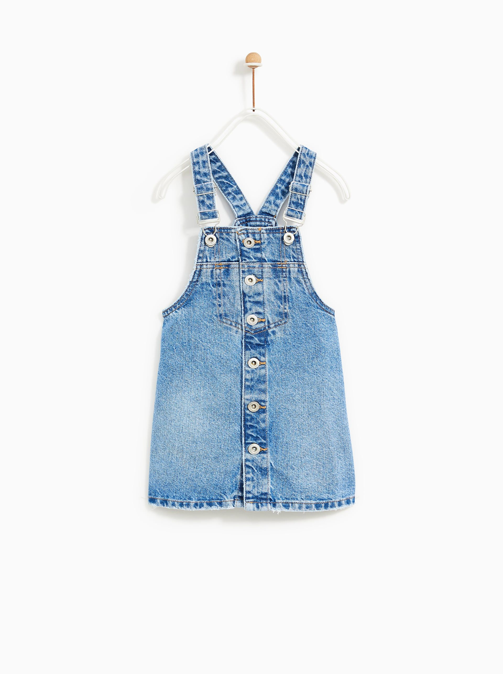 931d2f49 BUTTON-UP DENIM DUNGAREES from Zara | Dungarees and Pinaores - Girls ...