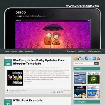 Prado blogger template. convert wordpress theme to blogger template ...