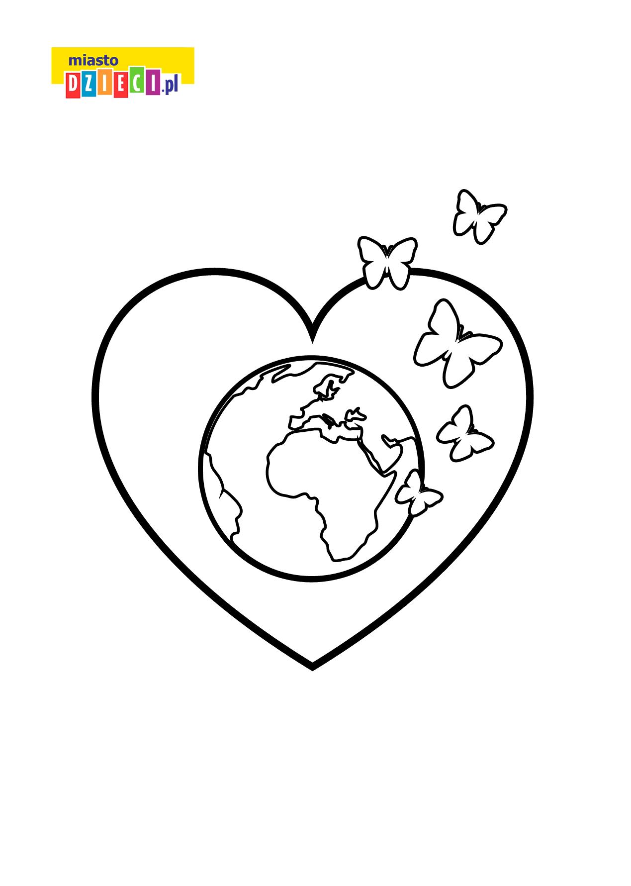Kolorowanka Na Dzien Ziemi Darmowa Kolorowanka Dla Dzieci W Miescie Dzieci Home Decor Decals Earth Day Kite