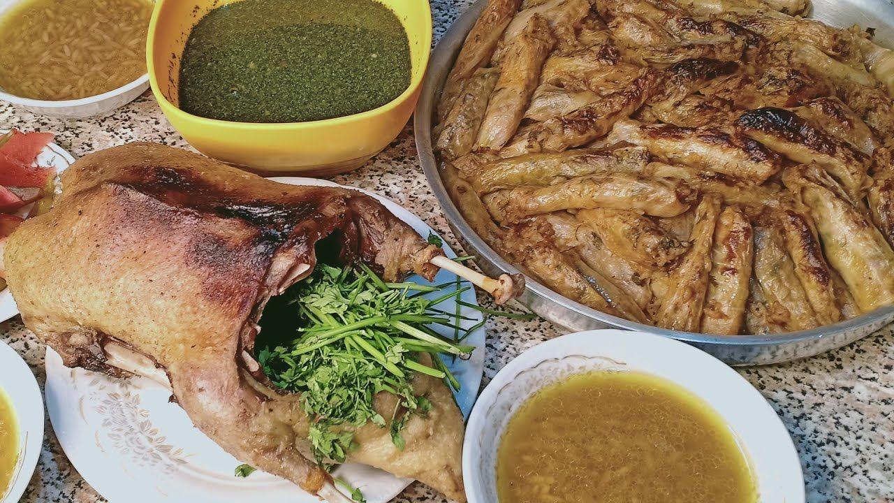 الغدا الى يروم العضم بصحيح بط ومحشى كرومب ياروايح الشتا Youtube Food Cooking Pork